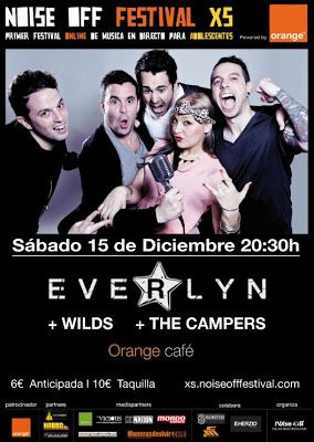 Sorteamos 2 Entradas para el Noise Off Festival Xs con Everlyn, Wilds y The Campers. Orange Café (Madrid)